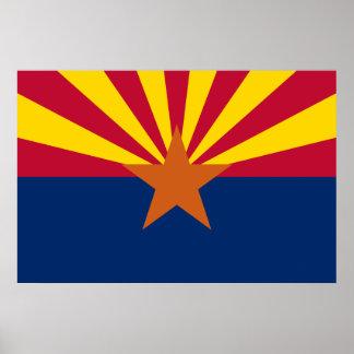 Impresión de la bandera de Arizona Póster