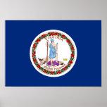 Impresión de la bandera de Virginia Poster