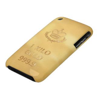 Impresión de la barra del lingote de oro iPhone 3 cárcasa