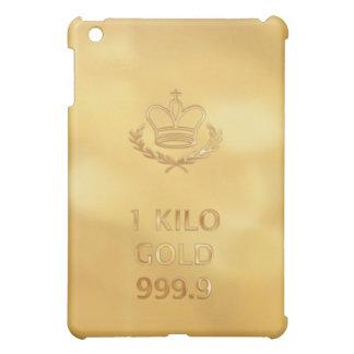 Impresión de la barra del lingote de oro iPad mini cobertura