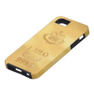 Impresión de la barra del lingote de oro iPhone 5 carcasa