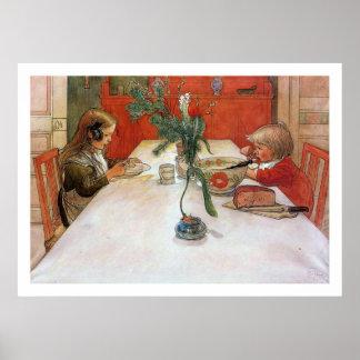 Impresión de la bella arte de la cena de Carl Lars Posters