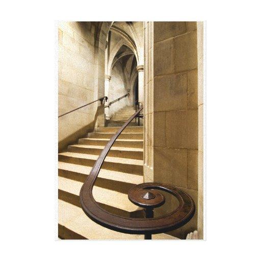 Impresión de la bella arte de la escalera de la ca impresiones en lona