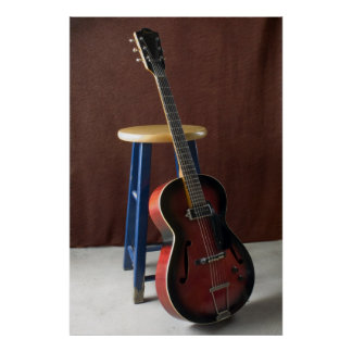 Impresión de la bella arte de la guitarra eléctric impresiones