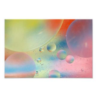 Impresión de la bella arte de las burbujas del ext fotografías
