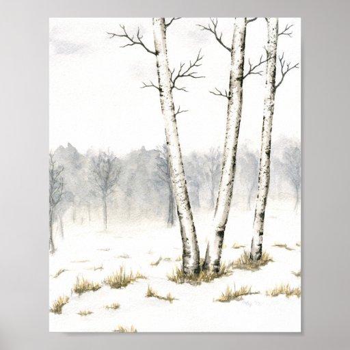 Impresión de la bella arte de los árboles del invi póster