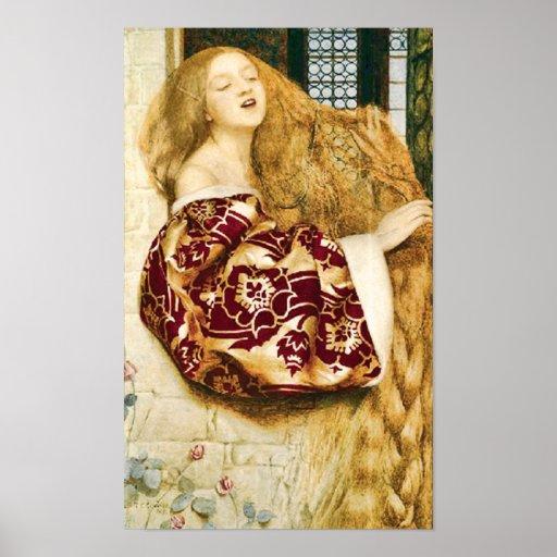 Impresión de la bella arte de Rapunzel del cuento  Póster