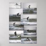 Impresión de la bella arte de Surfin Poster