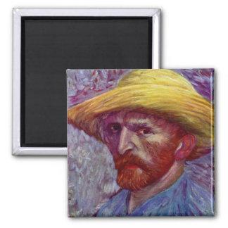 IMPRESIÓN de la BELLA ARTE de Van Gogh Imán Cuadrado