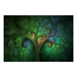 """""""Impresión de la bella arte del árbol de la primav Póster"""