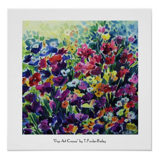 Impresión de la bella arte del azafrán del ARTE PO Poster