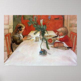 Impresión de la bella arte del poster de la cena d