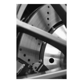Impresión de la bella arte del rotor del freno (ll foto
