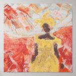 Impresión de la bella arte en lona/mujer africana impresiones