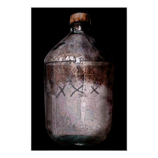 Impresión de la botella del alcohol ilegal