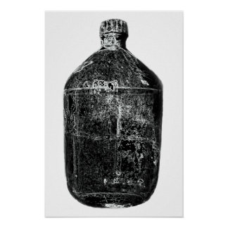 Impresión de la botella del alcohol ilegal póster