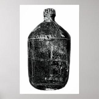Impresión de la botella del vintage posters
