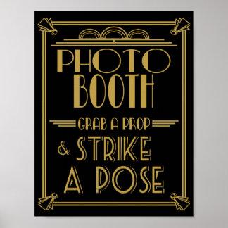 Impresión de la cabina de la foto del art déco de póster
