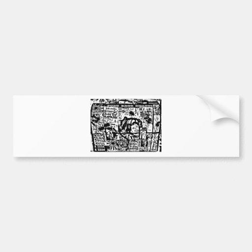 impresión de la caja del almuerzo del tributo del  pegatina para auto