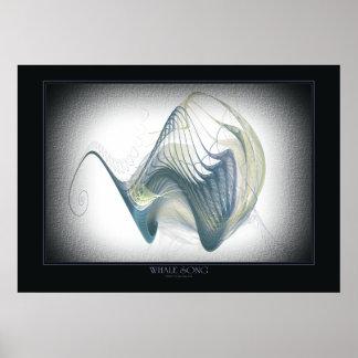Impresión de la canción de la ballena posters