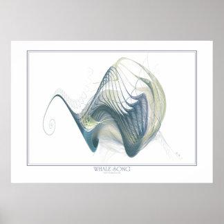 Impresión de la canción de la ballena póster