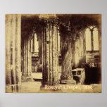 Impresión de la capilla 1860 de Rosslyn Póster