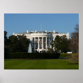Impresión de la Casa Blanca del navidad Póster