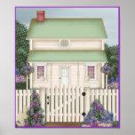 Impresión de la casa de campo posters