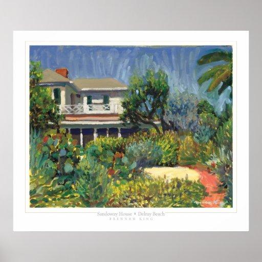 Impresión de la casa de Sandoway Póster