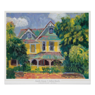 Impresión de la casa de Sundy Póster