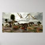 Impresión de la caza de Utahraptor Poster
