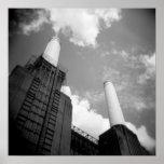 Impresión de la central eléctrica de Battersea Poster