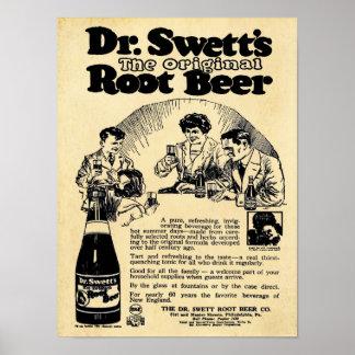 Impresión de la cerveza de raíz del Dr. Swetts del Póster