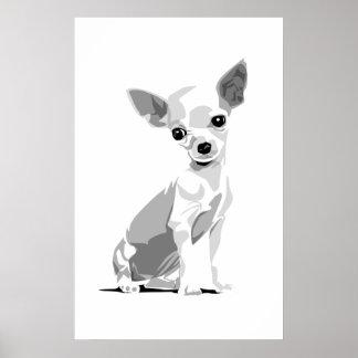 Impresión de la chihuahua póster