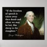 Impresión de la cita de la libertad de expresión d póster