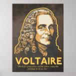 Impresión de la cita de Voltaire Posters