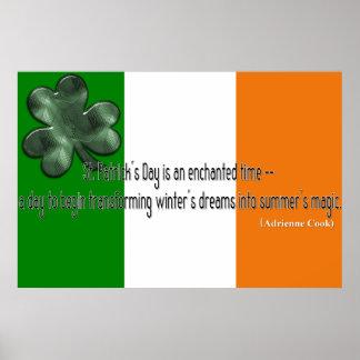 Impresión de la cita del día de St Patrick Impresiones