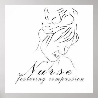 """Impresión de la compasión de la enfermera """"fomenta poster"""