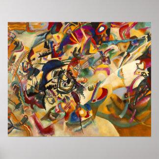 """Impresión de la """"composición VII"""" de Kandinsky Póster"""