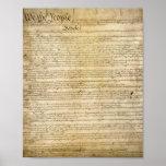 Impresión de la constitución de Estados Unidos del Posters