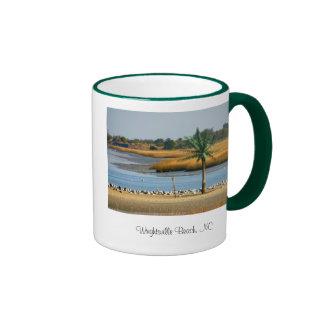 impresión de la copia 134_3481, playa de Wrightsvi Tazas De Café