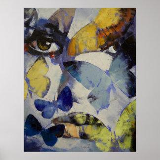 Impresión de la crisálida de la mariposa póster