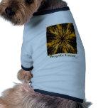 impresión de la cruz de los bridgits ropa de mascota