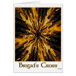 impresión de la cruz de los bridgits tarjeta de felicitación