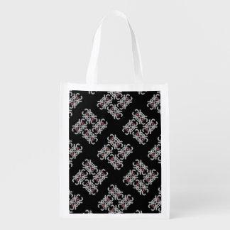 Impresión de la danza de la araña (negro) bolsa para la compra