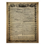 Impresión de la Declaración de Independencia del v Poster