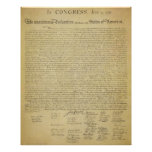 Impresión de la Declaración de Independencia Poster