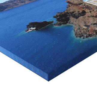 Impresión de la dicha de Santorini Lona Envuelta Para Galerias