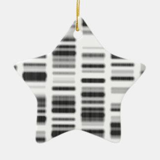 Impresión de la DNA - Adorno Navideño De Cerámica En Forma De Estrella
