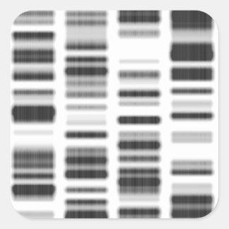 Impresión de la DNA - Pegatina Cuadrada